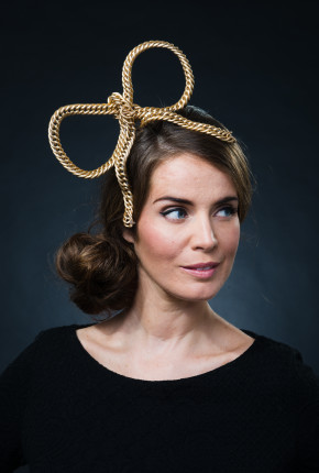 gold chain bow hairband