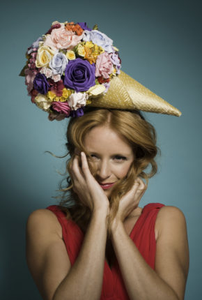 A floral icecream headpiece
