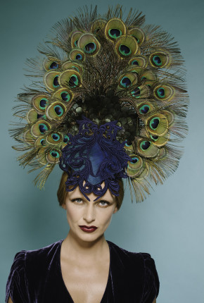 peacock head dress