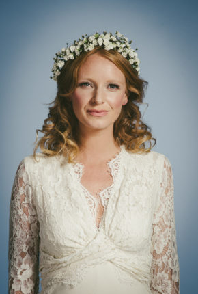Floral bridal head wreath