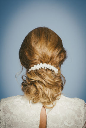 Bridal pearl headpiece
