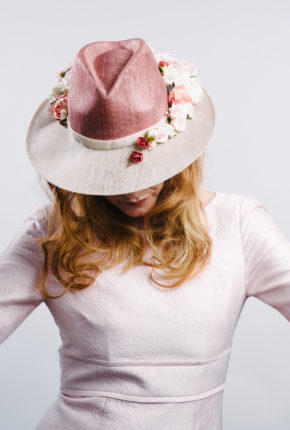 floral pink trilby