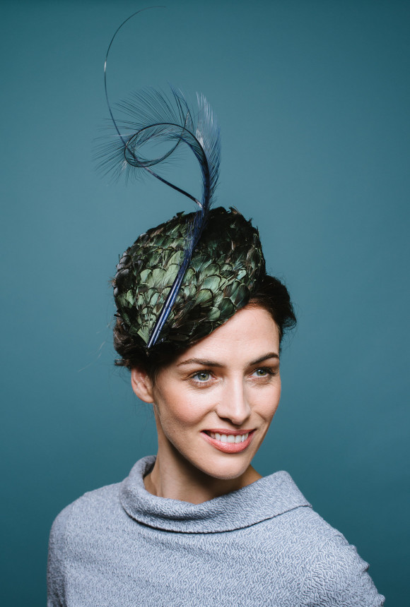 feather covered percher